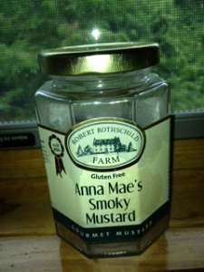 mustard jar with label, small